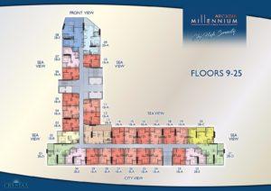 Arcadia Millennium Tower - Floors 9-25