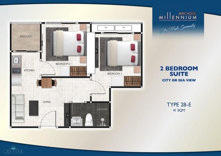 2 Bedroom Corner Suite