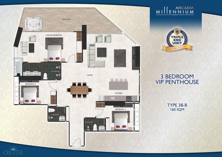 3 Bedroom VIP Penthouse