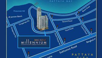 Arcadia Millennium Tower Location Map NEW