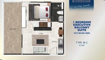 1 Bedroom Executive Balcony Suite