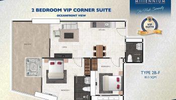 2 Bedroom VIP Corner Suite - Oceanfront View